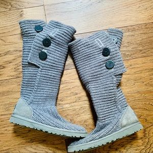Ugg Classic Cardy Boot Wool Blend in Grey Size 7.5